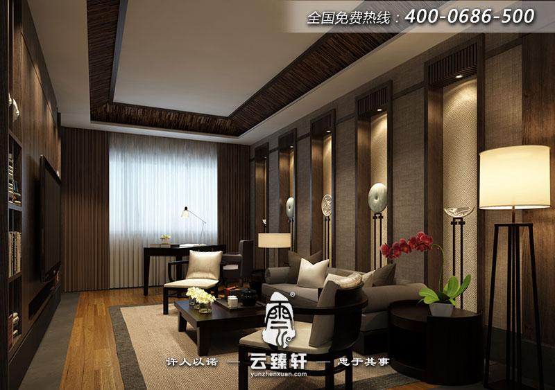 广州素雅的高档别墅中式装修效果图