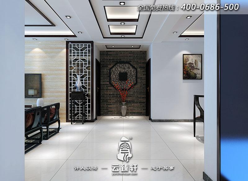 客厅走廊装修效果图_北京云臻轩中式设计机构