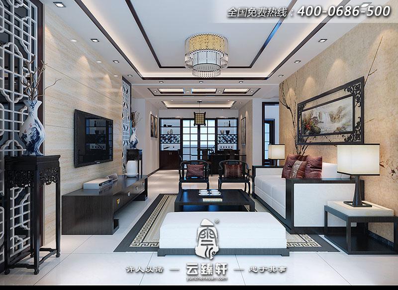 0平米的三居室新中式装饰样板房