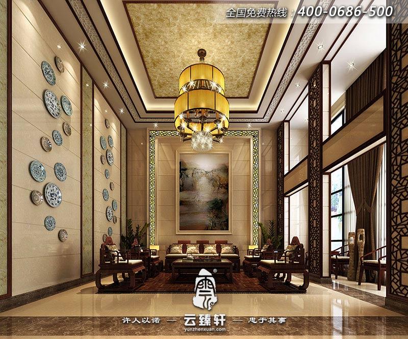 湖州张先生极简约中式风格别墅设计效果图