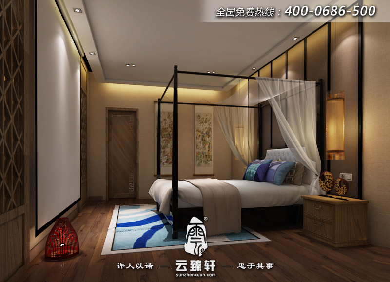 禪意中式臥室裝修效果圖