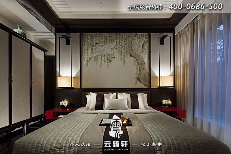新中式卧室装修图片