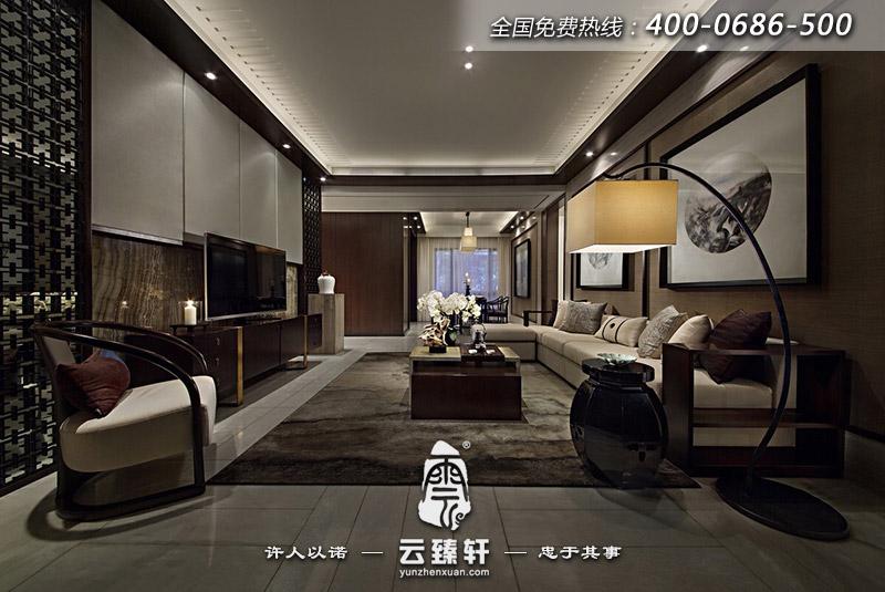新中式样板房客厅装修效果图