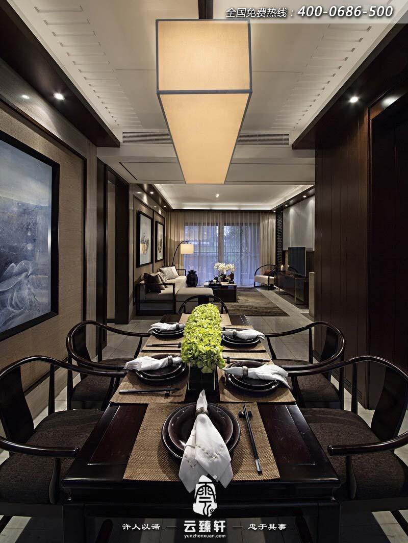 扬州三室两厅新中式装修样板房