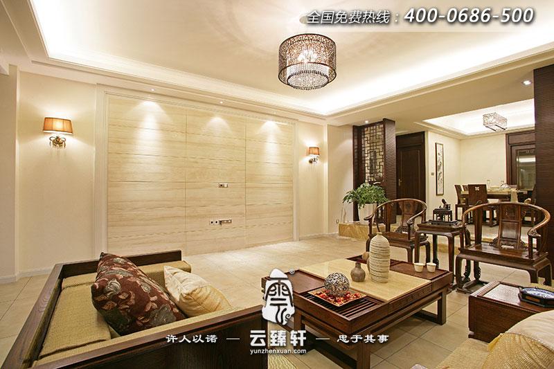 主页 家装设计 中式样板间   纵观全局,本案四室两厅中式装修样板房用