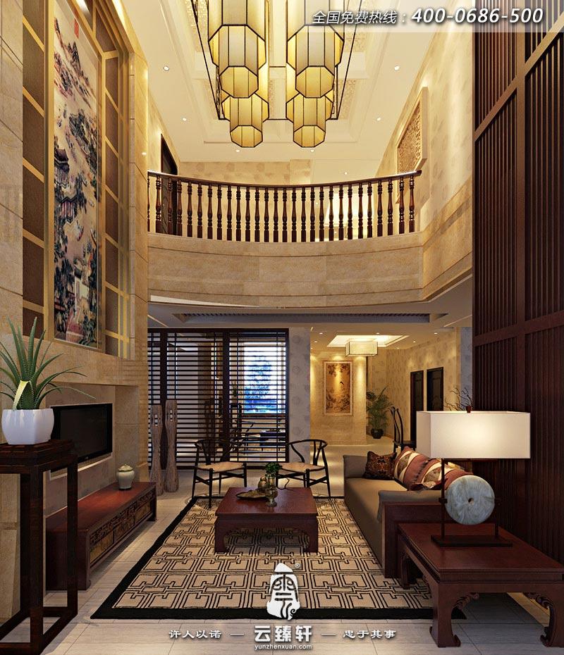 简中式别墅客厅装修效果图