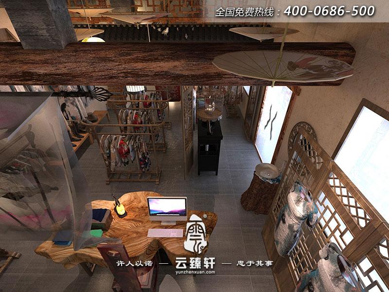 中式服装店前台设计效果图