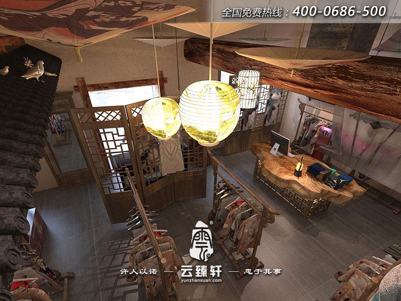 北京李女士中式古典服装店装修效果图
