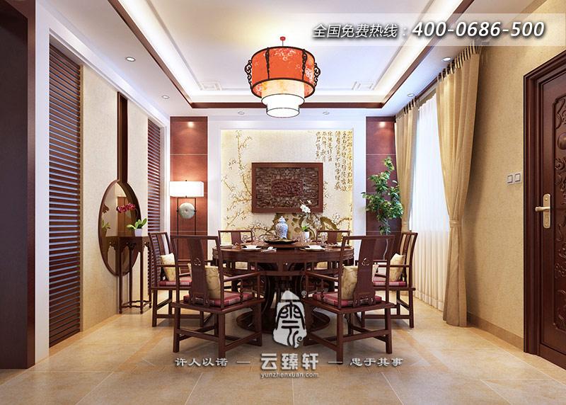 现代中式餐厅效果图