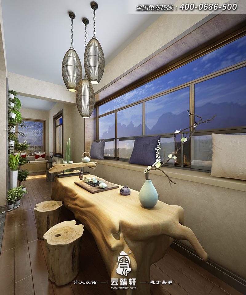 茶室建筑造型设计手绘