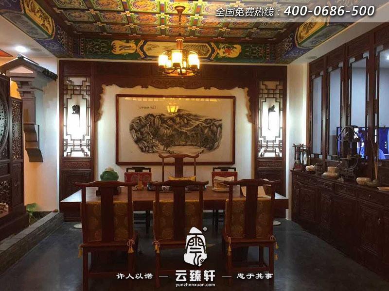 江苏100平米小型茶楼装修实景图案例
