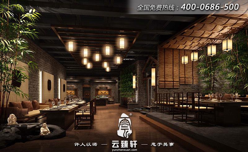 中式餐厅内部设计效果图