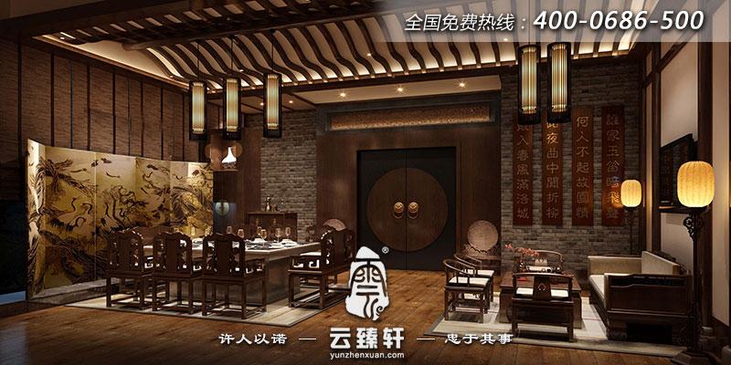 中式餐厅顾客动线应以从大门到坐位之间的通道畅通无阻为基本要求