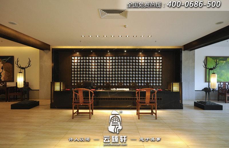 中式餐厅大堂服务台设计