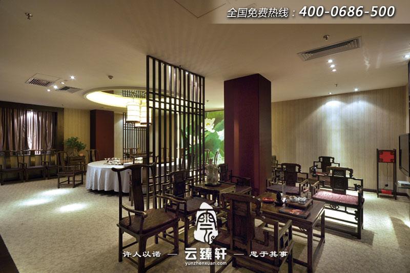 中式餐廳包間的設計效果圖