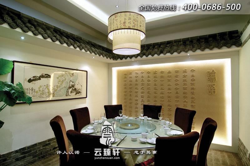 中式餐厅的包间装修效果图