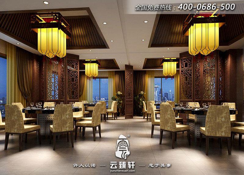 中式餐厅的大堂设计,功能分区明确,通透-北京中式餐厅设计效果图
