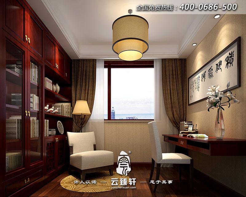 现代中式书房装修图片