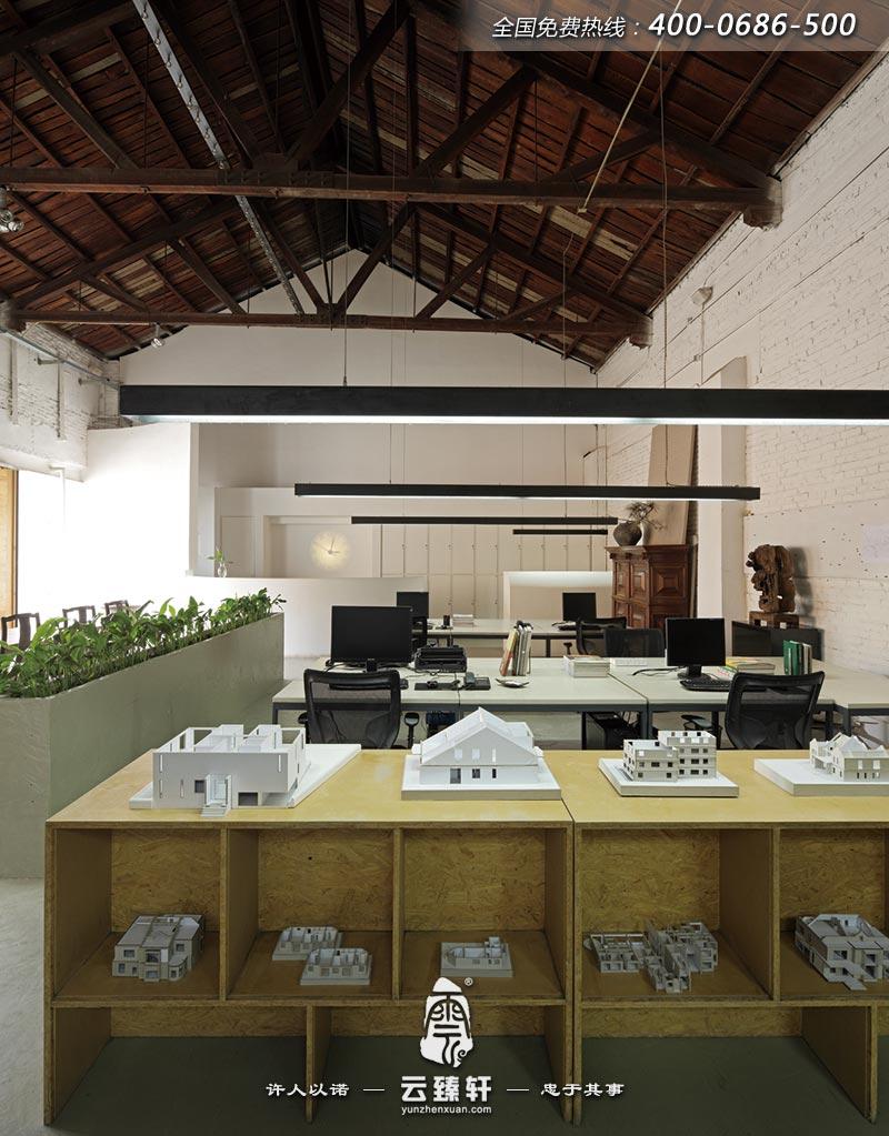 小型中式办公室装修效果图