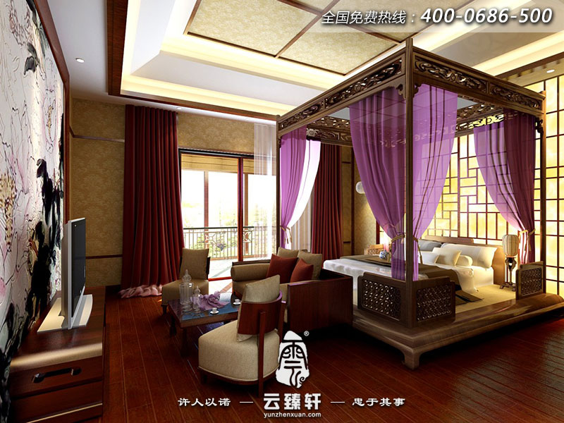 新中式装修窗帘效果图