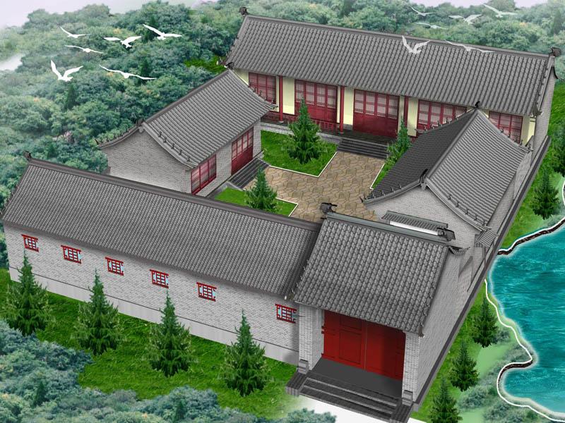 农村四合院中式设计效果图
