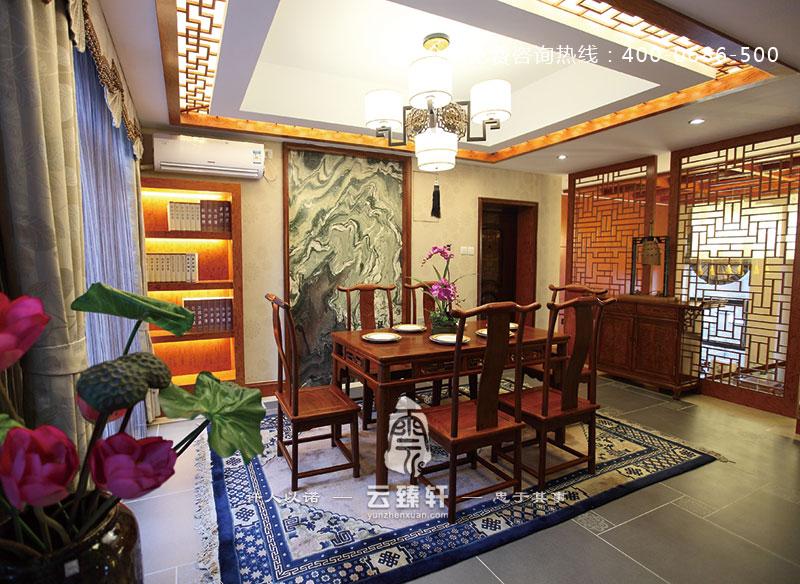 中式古典餐厅装修效果图