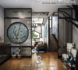 300平自建新中式风格别墅设计效果图