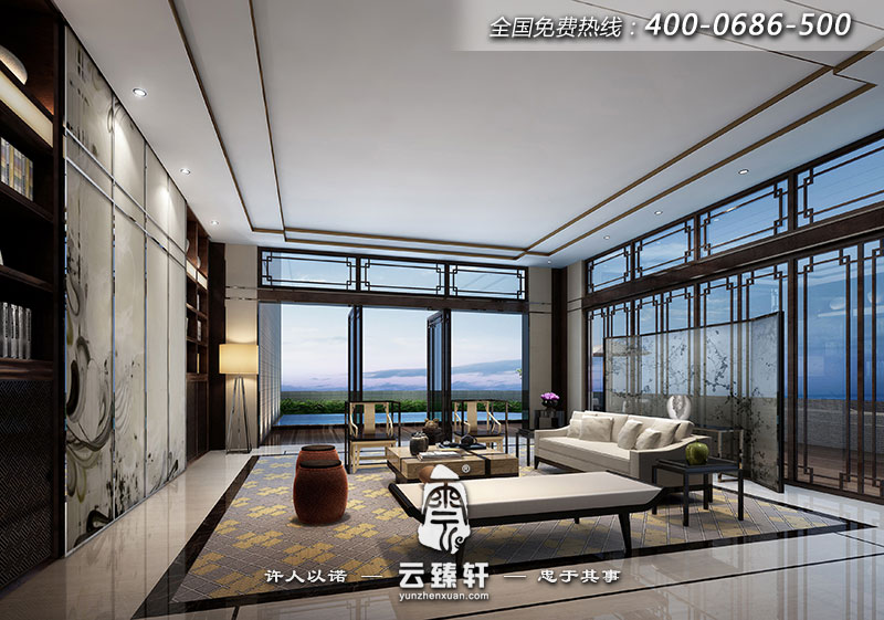 现代中式家装设计效果图