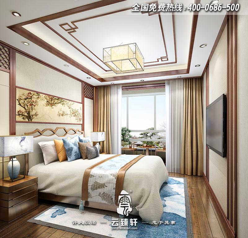 极简中式风格主卧装修效果图_北京云臻轩中式设计机构