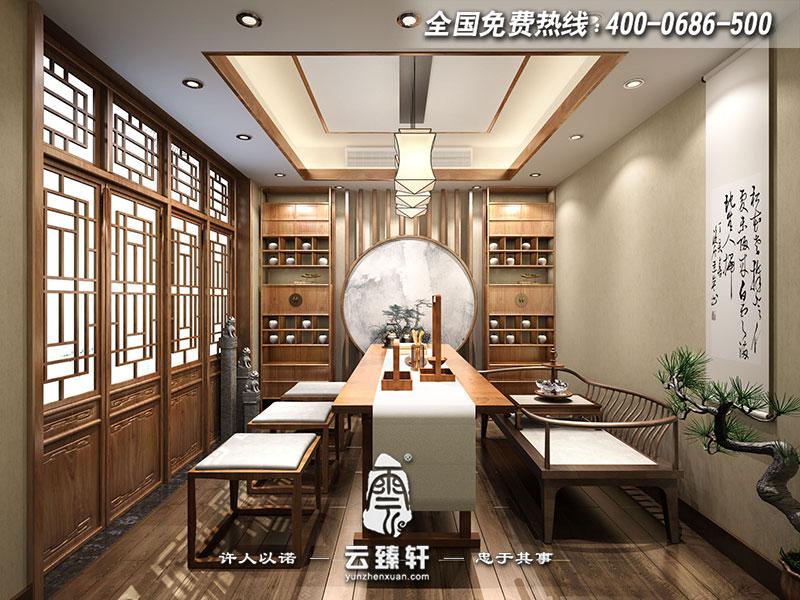 在家居茶室上创新,用间单的禅意设计符号,勾画出了简单的,奢侈的空图片