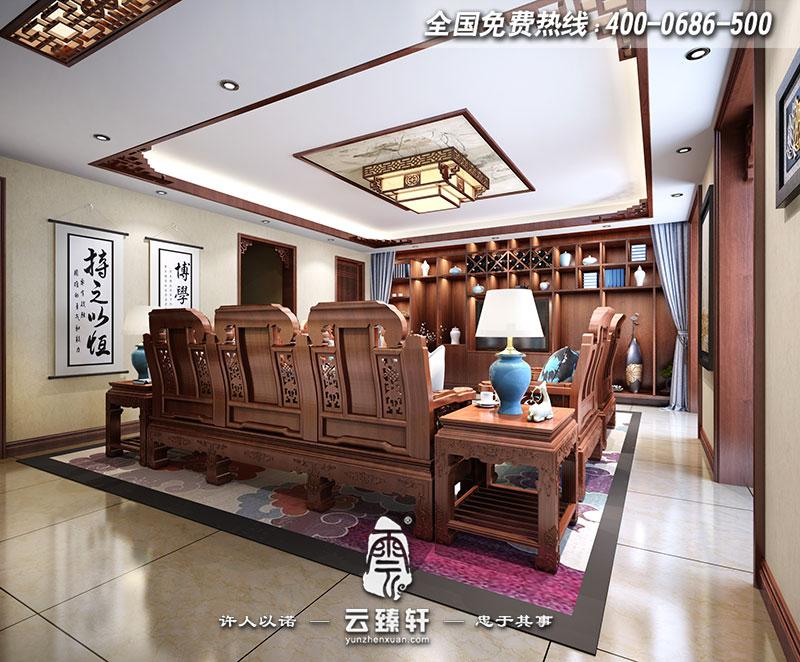 简约中式客厅效果图_简约中式风格客厅电视背景墙装修效果图_北京云臻轩中式设计机构