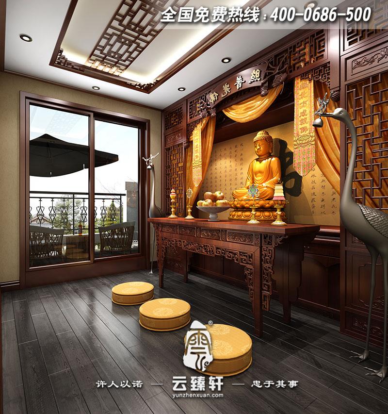 唐山500平独栋新中式风格别墅中式装修效果图图片
