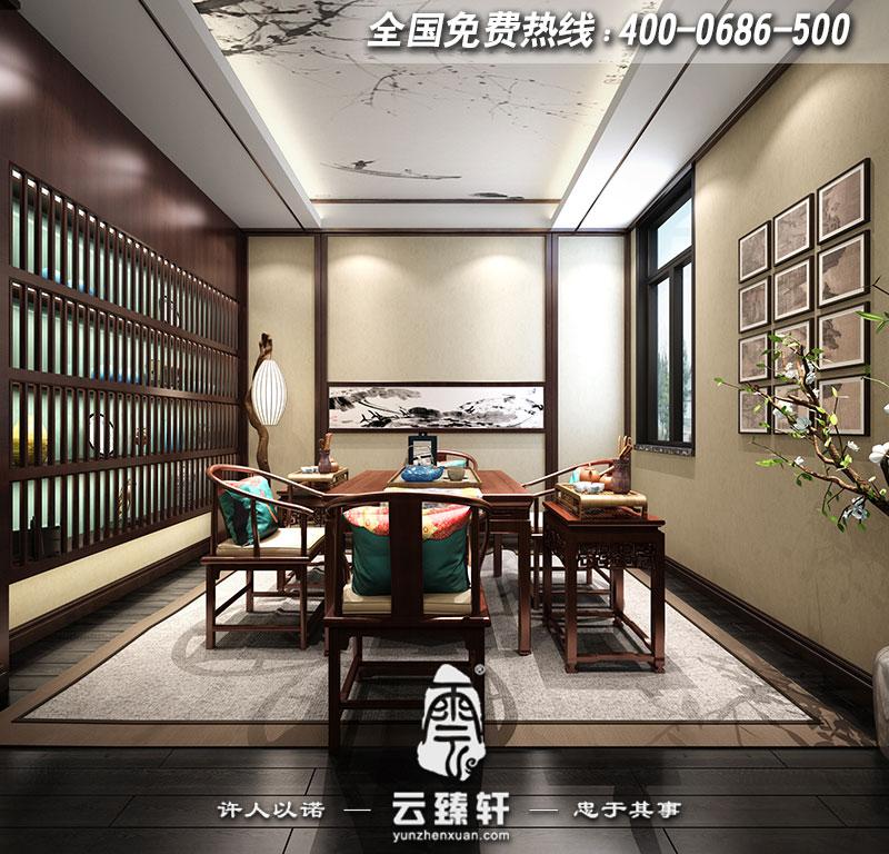 别墅地下室茶室设计效果图