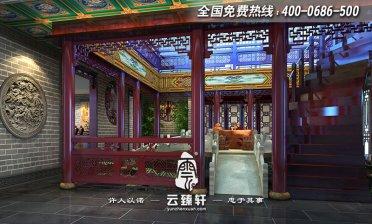 北京湾高端中式商务会所装修设计效果图
